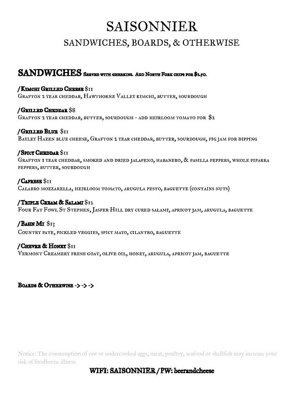 Saisonnier Pandemic Food Menu June2020(2