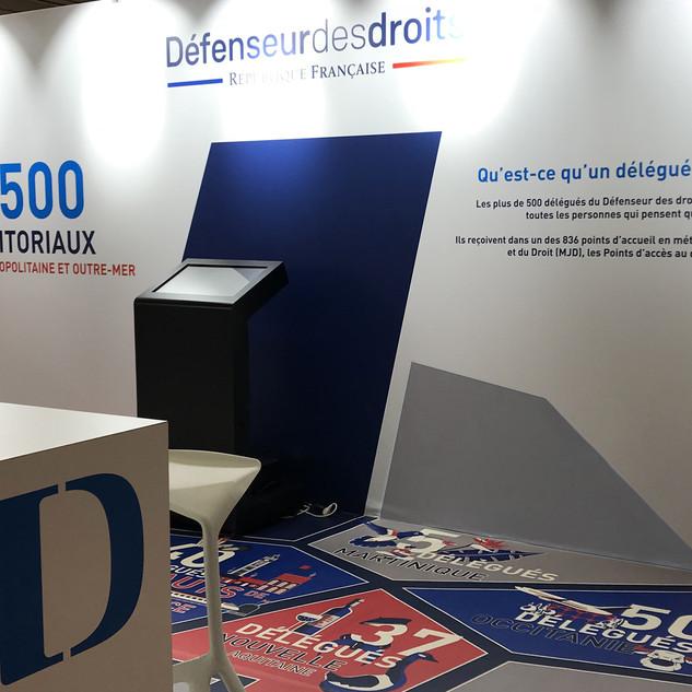 STAND DEFENSEUR DES DROITS SALON DES MAIRES PARIS - 2018