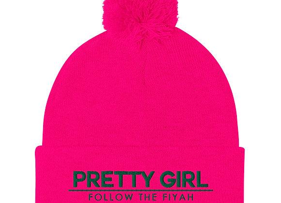Pretty Girl Pom-Pom Beanie