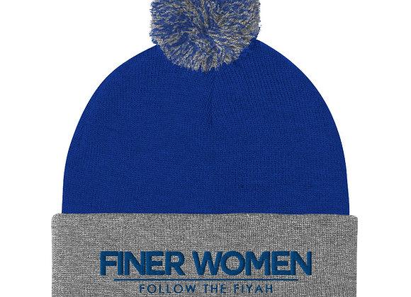 Finer Women Pom-Pom Beanie