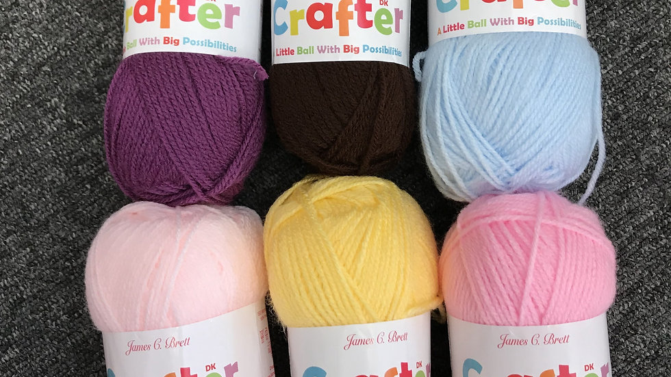 James Brett Crafter Double Knitting Yarn