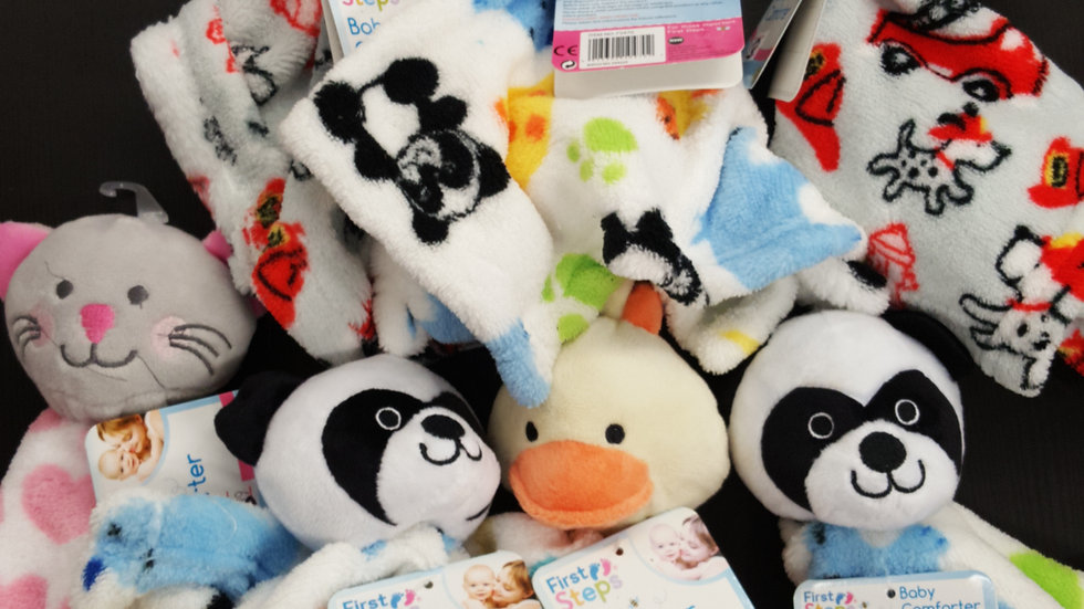 Brand new tagged First Steps baby comforters - please specify animal on order