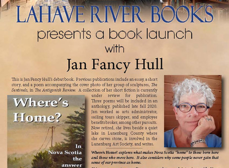 An appropriately-distanced book launch