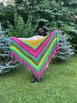 Colorful-Shawl-Knitting