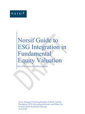 Norsif Guide to ESG Integration in Fundamental Equity Valuation
