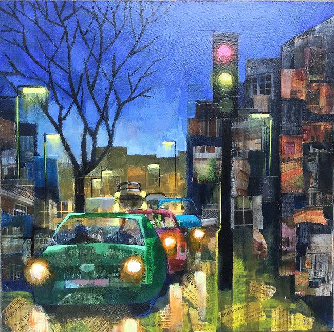Urban Life Painting by John Tordofoff.