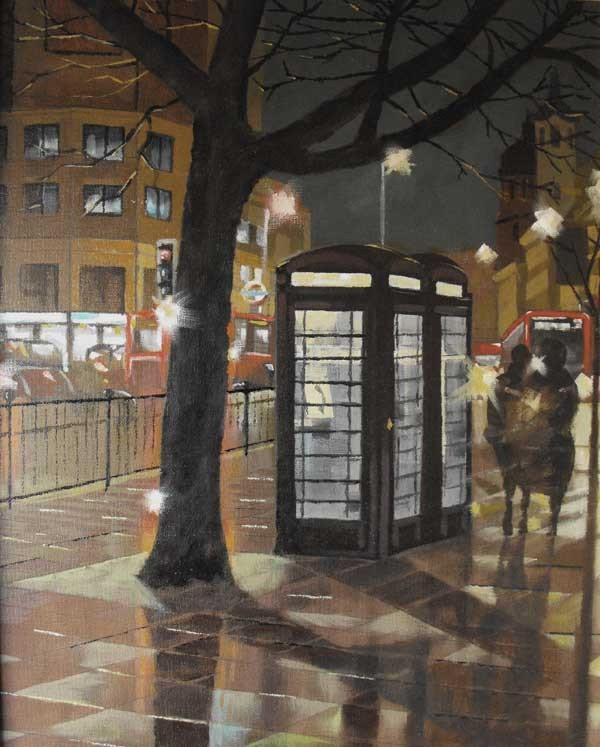 Urban life painting by John Tordoff