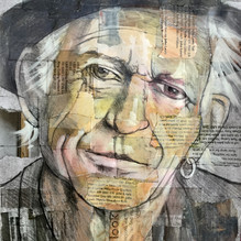 Keith Richards. Mixed media on paper 21x29cm.