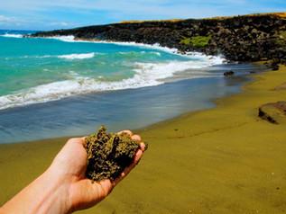 """Dónde podemos encontrar verdaderas """"playas de colores""""."""