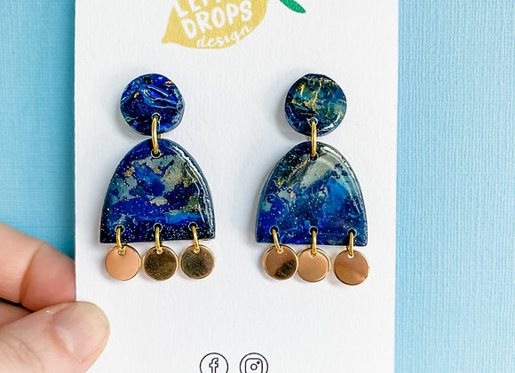 Small Dangly Lapis Drops