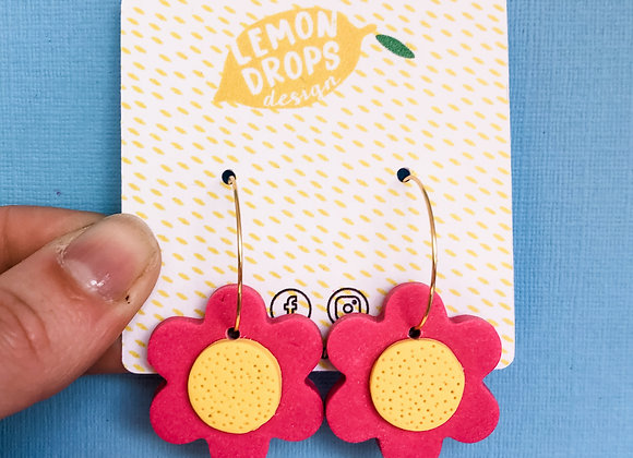 Flower Power - Medium Hoops