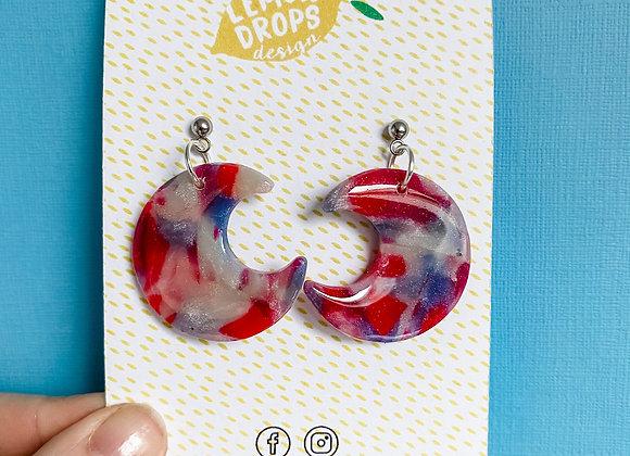 Gemstone Tie Dye Moon Drops