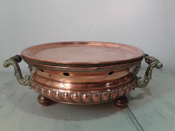 Chauffe-plat ancien cuivre