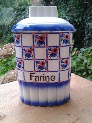 Pot à épices en faîence, farine. Ref.0558C