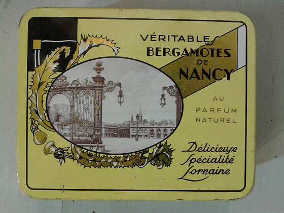 Boite Véritables bergamotes de Nancy 1970. Ref.079
