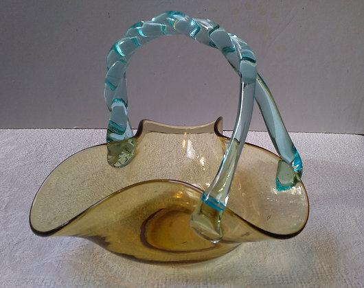 Coupelle panier en verre soufflé Georges Sand