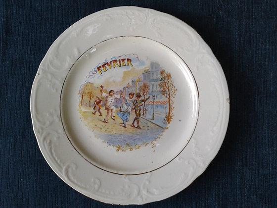 Assiette St Amand Février. Ref.0702F