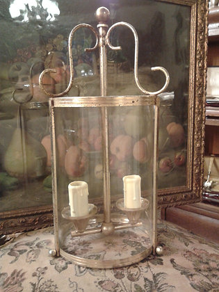 Suspension de couloir verre et laiton. Ref.S0189