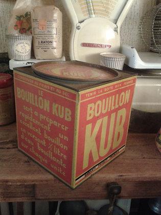 Grosse boite bouillon KUB. Ref.0022