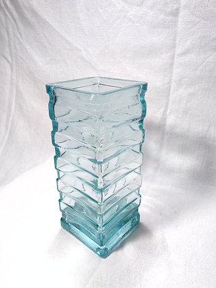 Vase verre turquoise moderniste