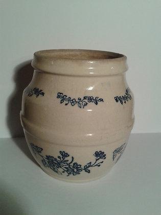 Petit pot ancien bleu de St Uze