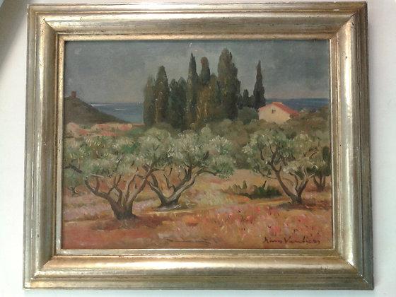 Huile, paysage de Hans Vautier