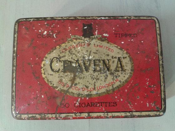 Boite ancienne cigarette Craven A . Ref.0461