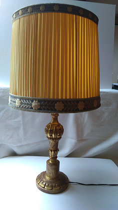 Lampe sur pied bois doré
