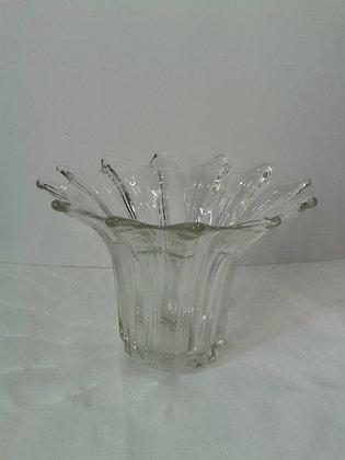 Vase vintage verre  forme corolle