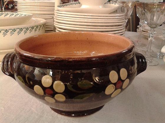 Soupière poterie d'Alsace. Ref.0485A