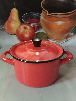 Petite cocotte vintage rouge. Ref.0742