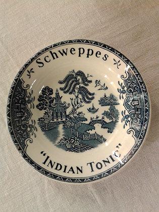 Cendrier Schweppes Indian Tonic bleu. Ref.0294