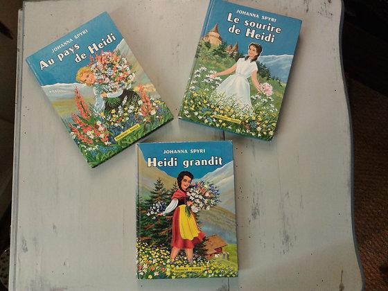 3 livres Heidi  1958-59 . Ref.0722
