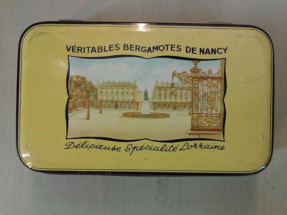 Boite Véritables Bergamotes Nancy 1970. Ref.0793A