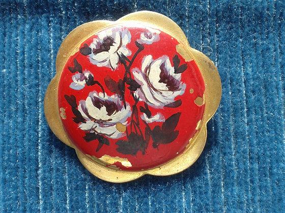 Broche fantaisie fleurs années 40. Ref.0662G
