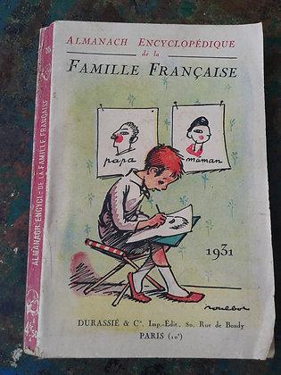 Almanach de la Famille Française 1931
