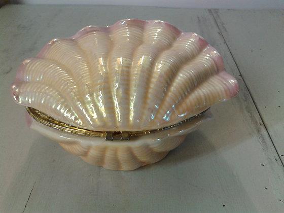 Boiteà bijoux faïence forme coquillage.ref.0859