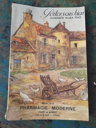Almanach Portez vous bien Sauba 1940