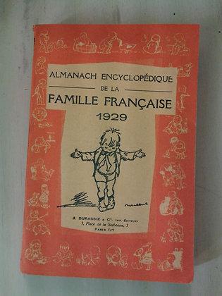 Almanach de la famille française 1929