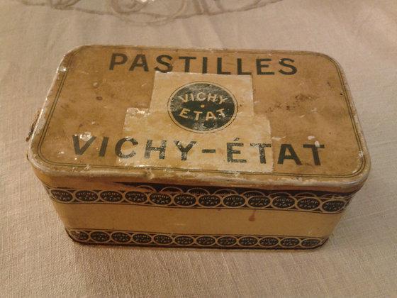 Boite pastilles Vichy-Etat ancienne. Ref.0058