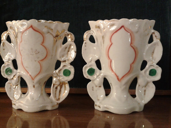 "Paire ""Vases de Mariée"" XIXe. Ref.0485"