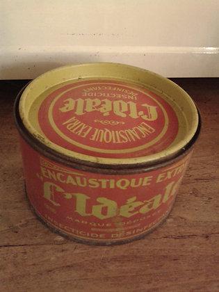 """Boite ancienne encaustique """"L'Idéale"""". Ref.0298"""