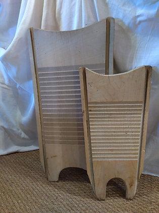 Grande planche à laver ancienne en bois