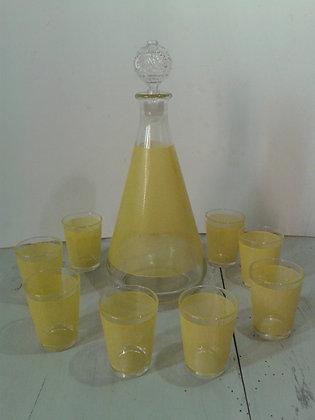 Carafe à liqueur et ses 8 petits verres