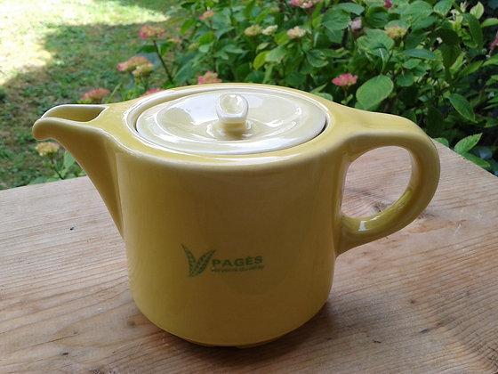 Théière thé Tetley, Pagès jaune. Ref.0056