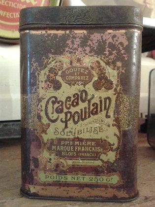 Boite cacao Poulain XIXe. Ref.0494B