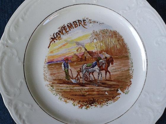 Assiette St Amand Novembre. Ref.0702C
