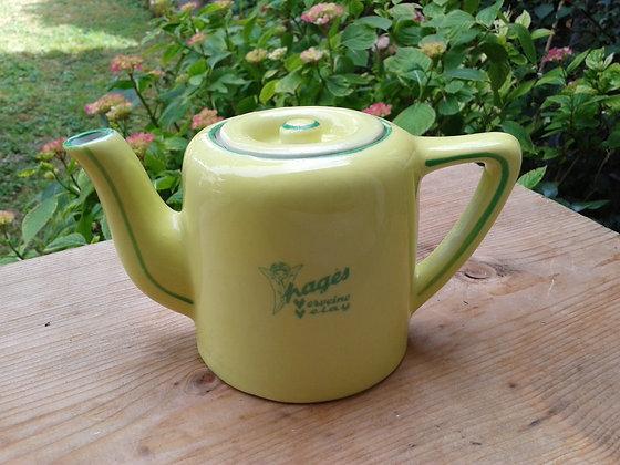 Théière Tetley, Pagès jaune et vert Ref.0475
