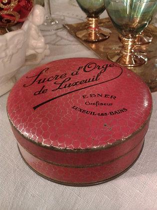 Boite sucre d'orge de Luxeuil. Ref.0067