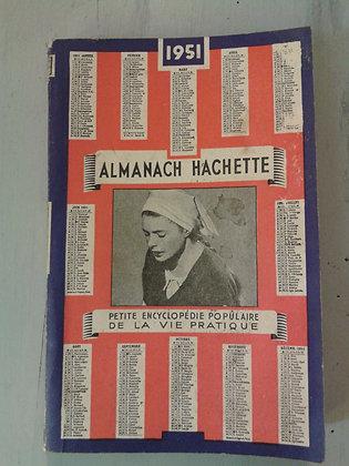 Almanach Hachette 1951.